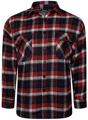 RIDDLED WITH STYLE Mens Lumberjack Check Long Sleeve T Shirt #( Check Long Sleeve ShirtXLarge#Mens)