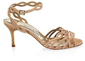 Manolo Blahnik Women's Lena Suede Sandals