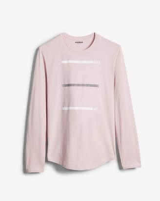 Express Never Too Late Long Sleeve Graphic Tee