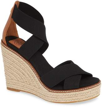 a4e08c5d192f0 Tory Burch Black Wedge Sandals - ShopStyle