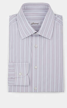 Brioni Men's Striped Cotton Poplin Dress Shirt - Lt. Blue