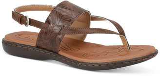 b.o.c. Sharin Tooled Flat Sandals $50 thestylecure.com