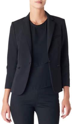 Veronica Beard Scuba Schoolboy Blazer Jacket