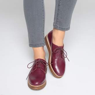1b5a47891a8b3f La Redoute COLLECTIONS Leather Wedge Heel Brogues