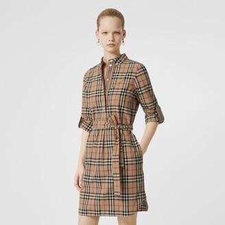 929b659a4733 Burberry Vintage Check Cotton Tie-waist Shirt Dress
