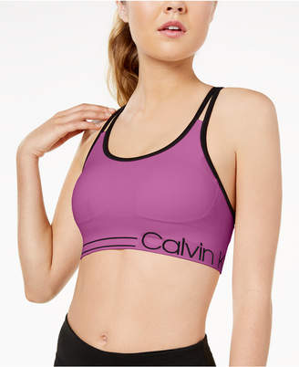 Calvin Klein Strappy-Back Low-Impact Sports Bra