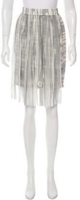 Raquel Allegra Printed Knee Length Skirt