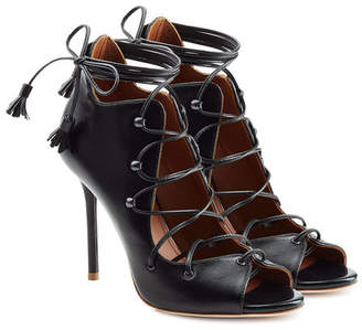 Malone Souliers Lace-Up Leather Sandals