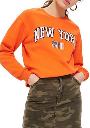Topshop New York Slogan Sweatshirt by Tee and Cake