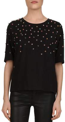The Kooples Multicolor Studded Jersey Tee