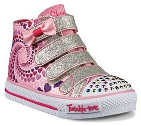 Skechers Twinkle Toes Shuffles Lil Skippers Light-Up Girls' Sneakers $49.99 thestylecure.com
