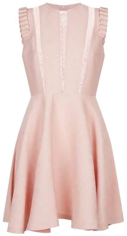 Lace Trim Skater Dress