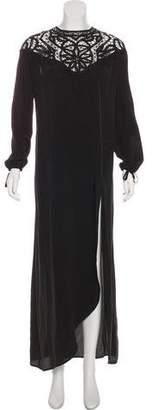 For Love & Lemons Lace-Paneled Silk Dress w/ Tags