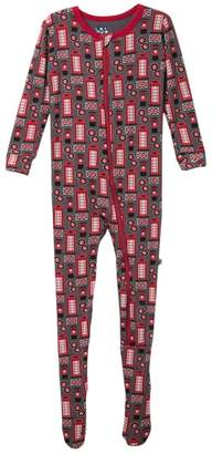 Kickee Pants Printed Zip Footie (Baby & Toddler Boys)