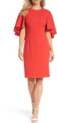 Eliza J Cape Sleeve Dress