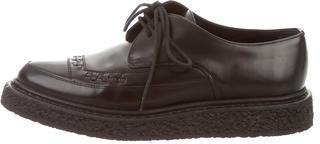 Saint LaurentSaint Laurent Leather Pointed-Toe Oxfords