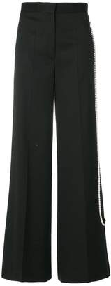 MM6 MAISON MARGIELA pearl trim tailored palazzo pants