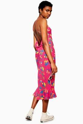 Topshop PETITE Bright Floral Slip Dress