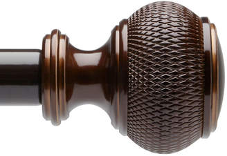 Liz Claiborne Woven Knob Adjustable Curtain Rod