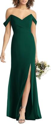 Social Bridesmaids Strapless V-Neck Chiffon Trumpet Gown
