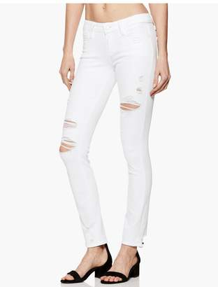 Paige Skyline Ankle Peg - Bright White Destructed