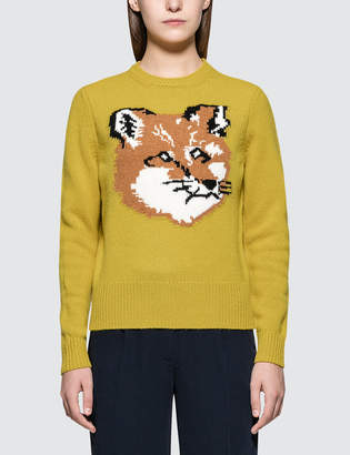 MAISON KITSUNÉ Fox Head Pullover