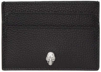 Alexander McQueen Black and Silver Skull Card Holder
