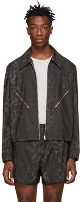 Helmut Lang Brown Reflective Leopard Jacket