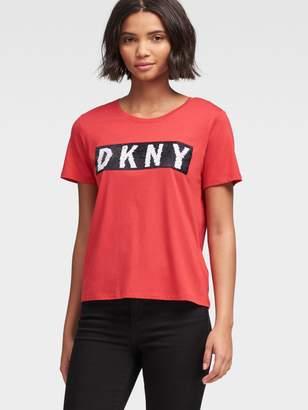 DKNY Sequined Logo Tee