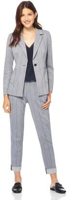 Ecru Single Button Blazer