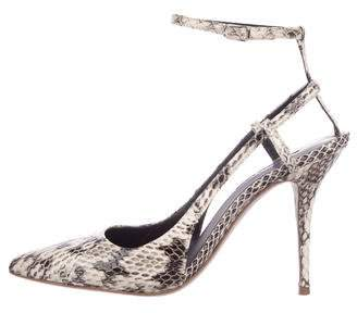 Alexander Wang Snakeskin Ankle Strap Sandals