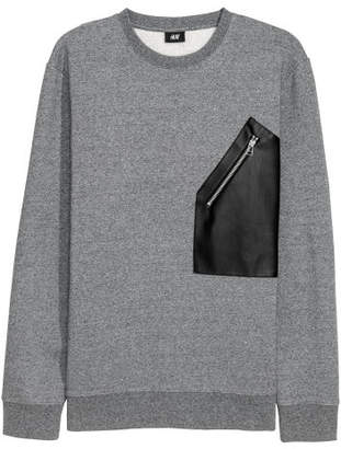 H&M Sweatshirt with Pocket - Gray