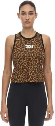 Nike Dry Tank Leopard Print Crop Top