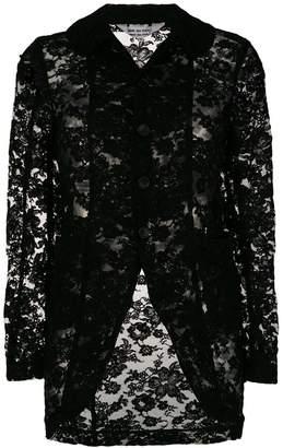 Comme des Garcons floral lace detail jacket