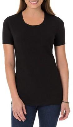 Time and Tru Women's Essential Short Sleeve Crewneck T-Shirt