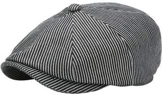 66b23238f9c at Luisaviaroma · Don Striped Cotton Flat Cap