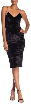 Alice + Olivia Cate Knee Length Velvet Slip Dress