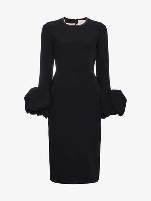 Roksanda Lena crepe frilled sleeve midi dress