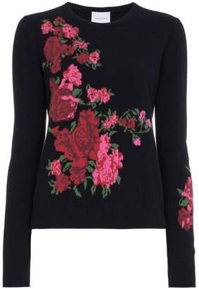 Magda Butrym Cashmere rose knit jumper