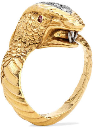 Fred Leighton - 1970s 18-karat Gold, Diamond And Ruby Ring