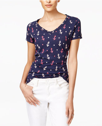 Maison Jules Cotton Anchor-Print T-Shirt, Only at Macy's $24.50 thestylecure.com