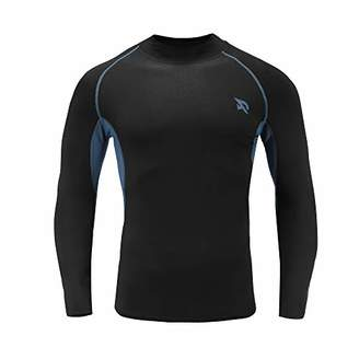 RADHYPE Men Polyester Fitted Long Sleeve Athletic Mock Shirt Training Top XXL