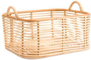 Large Open Weave Storage Basket