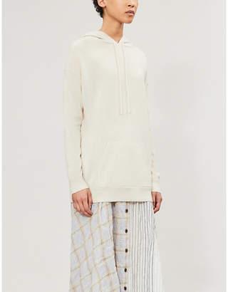 Nili Lotan Selma waffle-knit cashmere hoody