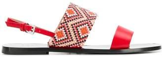 Pollini beaded sandals