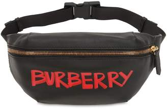 Burberry Smooth Leather Graffiti Belt Pack
