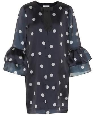 Ganni Seneca polka-dotted silk dress