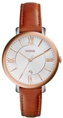 Fossil Jacqueline Cedar Leather Watch