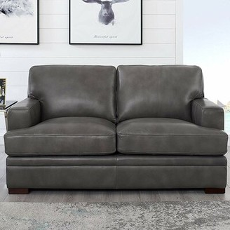 17 Stories Werner Leather Loveseat 17 Stories