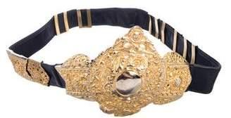 Roberta Di Camerino Embellished Leather Belt